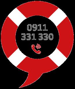 Wildwasser Nürnberg, Rettungsring Telefon 0911 331330